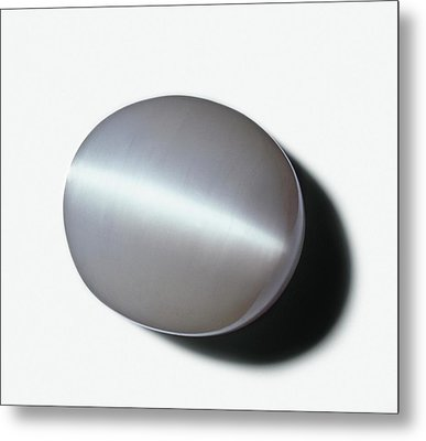 Opalescent Gypsum Or Satin Spar Metal Print by Dorling Kindersley/uig