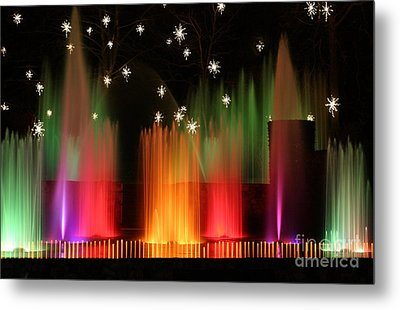 Open Air Theatre Rainbow Fountain Metal Print