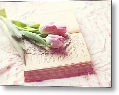 Open Book Metal Print by Sylvia Cook