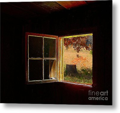 Open Cabin Window II Metal Print by Julie Dant
