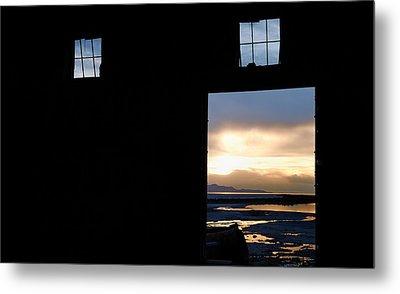 Open Door Sunset - A Great Salt Lake Sunset Metal Print