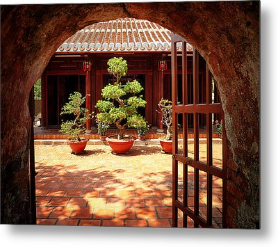Open Gate Metal Print by Kim Andelkovic