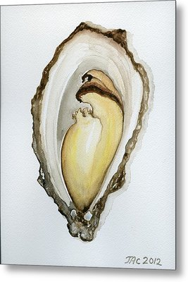 Open Oyster #3 Metal Print