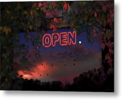 Open Metal Print by Ron Jones