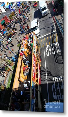 Open Top Tour Bus At Pier 39 San Francisco California 5d26076 Metal Print by Wingsdomain Art and Photography
