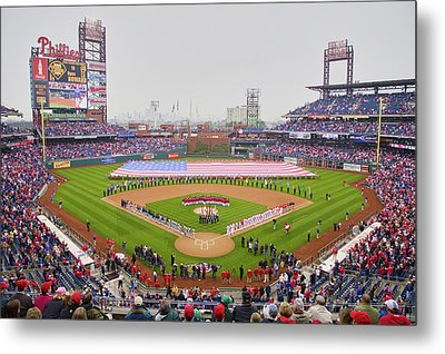 Opening Day Ceremonies Featuring Metal Print