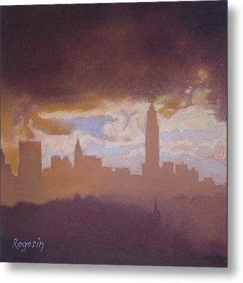 Opening To The City Metal Print by Harvey Rogosin