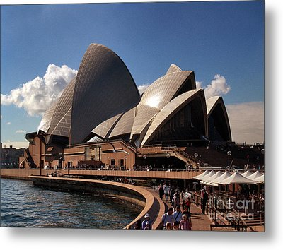 Metal Print featuring the photograph Opera House Famous by John Swartz