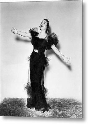 Opera Star Grace Moore Sings Metal Print
