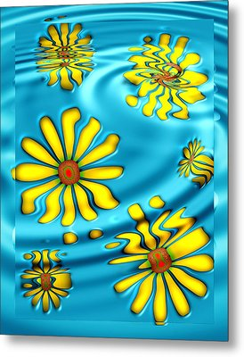 Ophelia's Daisies Metal Print by Wendy J St Christopher