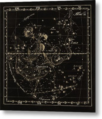 Ophiuchus Constellations, 1829 Metal Print by Science Photo Library