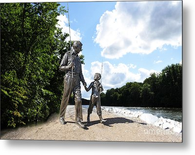 Opie And Andy Go Fishin Metal Print by David Arment