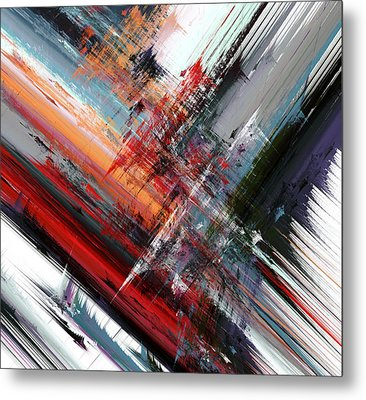 Opposing Angles Metal Print by Hal Tenny