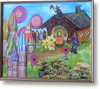 Oprah The Rainbow Metal Print by Catherine Hamill