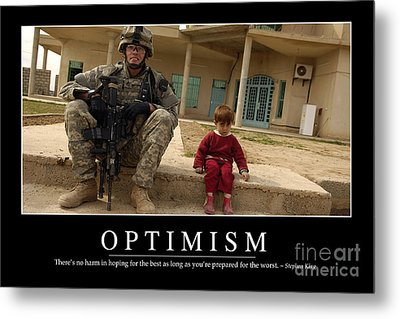 Optimism Inspirational Quote Metal Print by Stocktrek Images