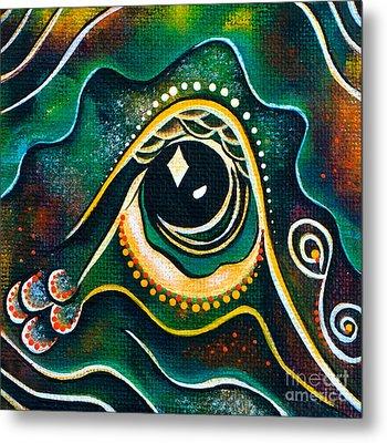 Metal Print featuring the painting Optimist Spirit Eye by Deborha Kerr