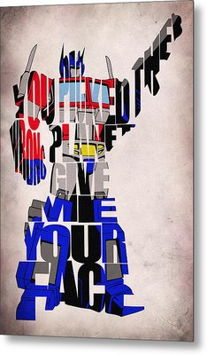 Optimus Prime Metal Print by Ayse and Deniz