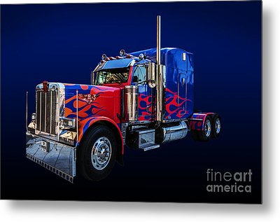 Optimus Prime Blue Metal Print