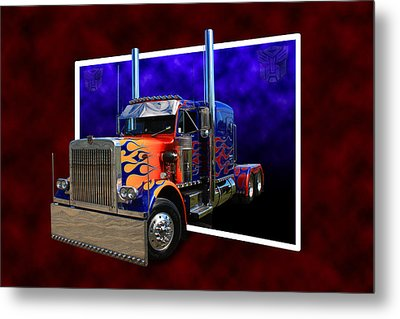 Metal Print featuring the photograph Optimus Prime Peterbilt by Keith Hawley
