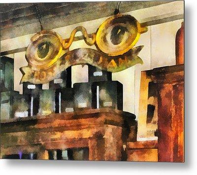 Optometrist - Spectacles Shop Metal Print by Susan Savad