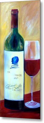 Metal Print featuring the painting Opus One  by Sheri  Chakamian