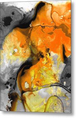 Orange Abstract Art - Light Walk - By Sharon Cummings Metal Print by Sharon Cummings
