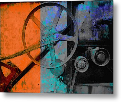 Orange And Blue  Metal Print by Ann Powell