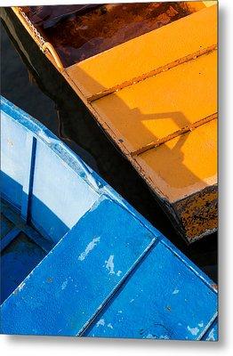 Orange And Blue Metal Print by Davorin Mance