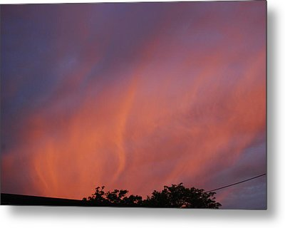 Metal Print featuring the photograph Orange And Blue Sunset by Ramona Whiteaker