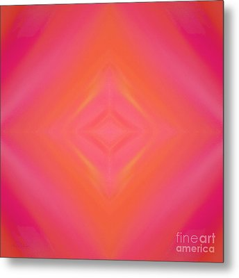Orange And Raspberry Sorbet Abstract 4 Metal Print by Andee Design