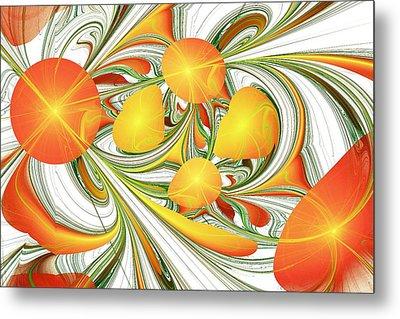 Orange Attitude Metal Print by Anastasiya Malakhova