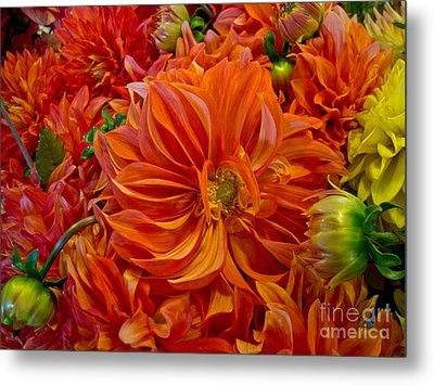 Orange Bouquet Metal Print by Arlene Carmel