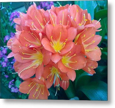 Orange Bouquet Metal Print