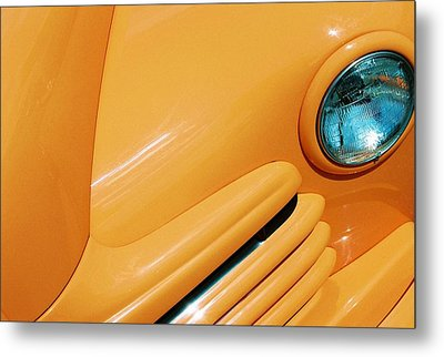 Orange Car Metal Print