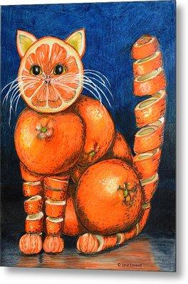 Orange Cat Metal Print by Jane Loveall