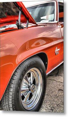 Orange Chevelle Ss 396 Metal Print by Dan Sproul