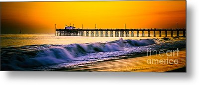 Orange County Panoramic Sunset Picture Metal Print
