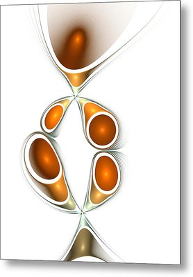 Orange Creation Metal Print