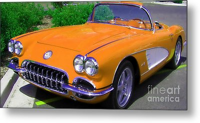 Orange Crush Metal Print