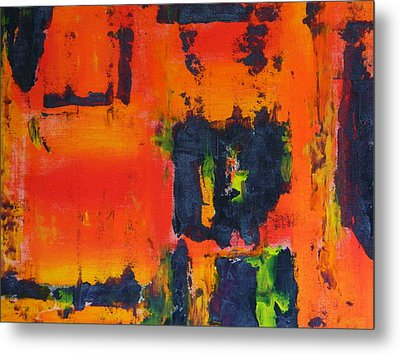 Metal Print featuring the painting Orange Day by Everette McMahan jr