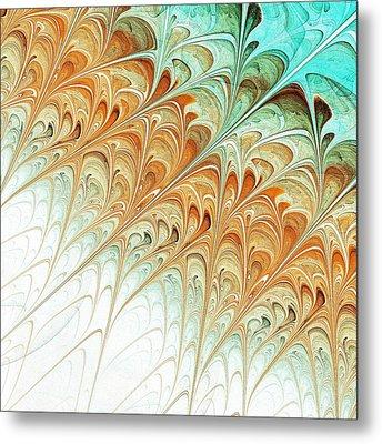 Orange Folium Metal Print by Anastasiya Malakhova