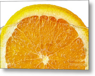 Orange In Water Metal Print by Elena Elisseeva