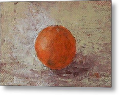 Metal Print featuring the painting Orange by Jane  See