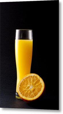Orange Juice Metal Print by Gergana Chakalova