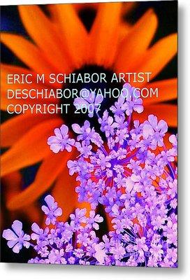 Orange Lavender Flower Metal Print