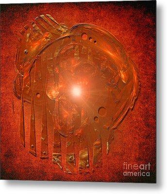 Metal Print featuring the digital art Orange Light by Alexa Szlavics
