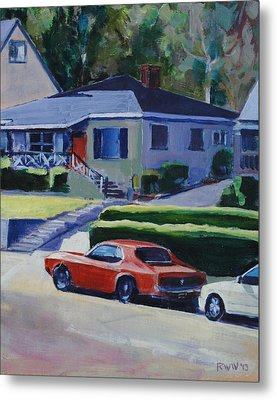 Orange Mustang Metal Print by Richard  Willson