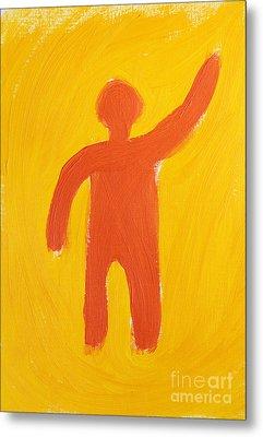 Orange Person Metal Print by Igor Kislev