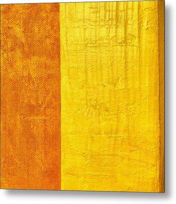 Orange Pineapple Metal Print by Michelle Calkins