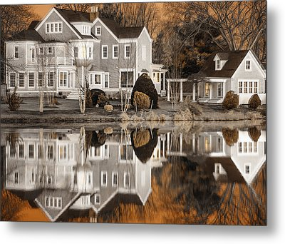 Orange Reflection Metal Print by Vicki Jauron